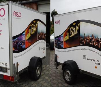 Werbeanhänger Fa. A&O