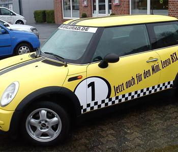 Fahrzeugbeschriftung Mini
