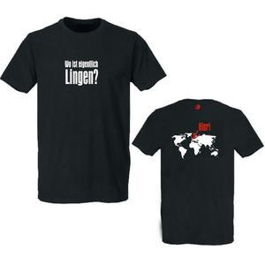 Wo ist eigentlich Lingen? T-Shirt rundhals